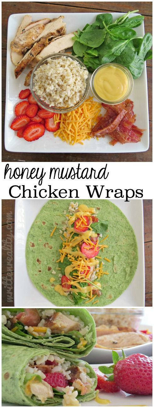 Let's share. . . Honey Mustard Chicken Wraps are healthy and delicious! Let's…