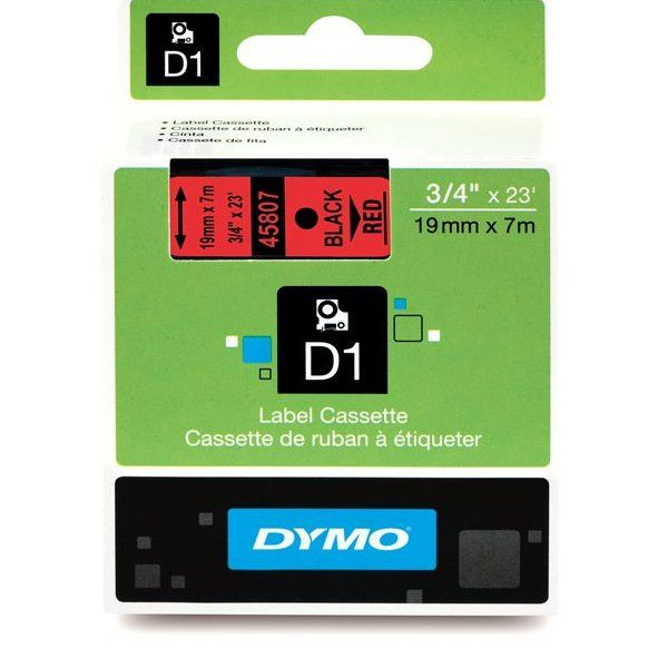 "Dymo D1 45807 Tape - 0.75"" x 23' - 1 x Roll"
