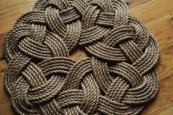 Kringle Mat - Nautical Decor - Smal Rope Rug - Manila Rope Mat (18 inch Diameter) on Etsy, $45.00