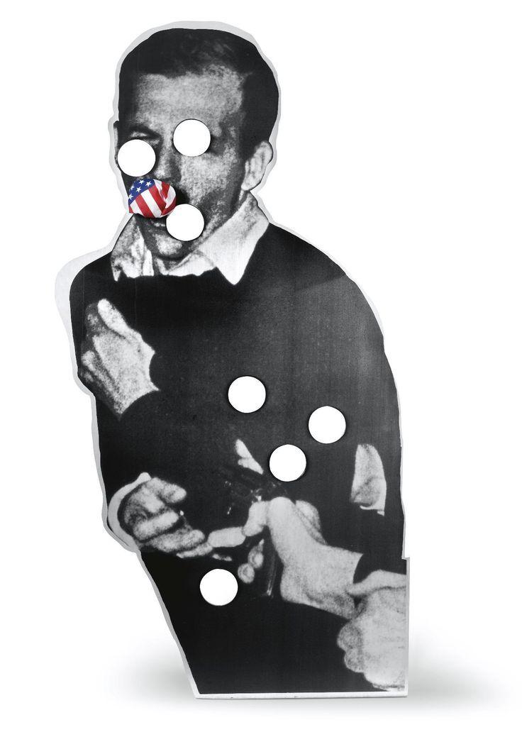 Cady Noland (1956-) Oozewald 1989 (183 x 91,4 cm) silkscreen ink on aluminum plate.