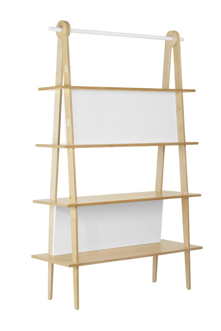 Pregadio bookshelf is designed to be assembled and disassembled easily. The components are assembled interlocking, without the use of screws or glue Material: birch plywood and cut beech