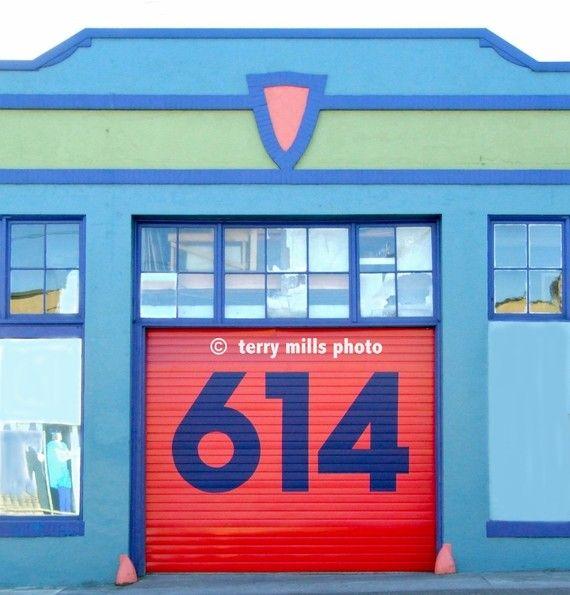 614  RED DOOR   Red Door With Blue Green Door by terrymillsphoto