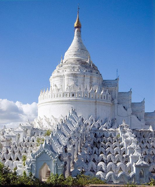 Hsinbyume Pagoda, Mingun, Sagaing, Myanmar (Burma) was built in the early 1800s.  by colin house