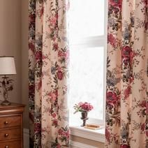 Dorma Red Lavinia Lined Pencil Pleat Curtains
