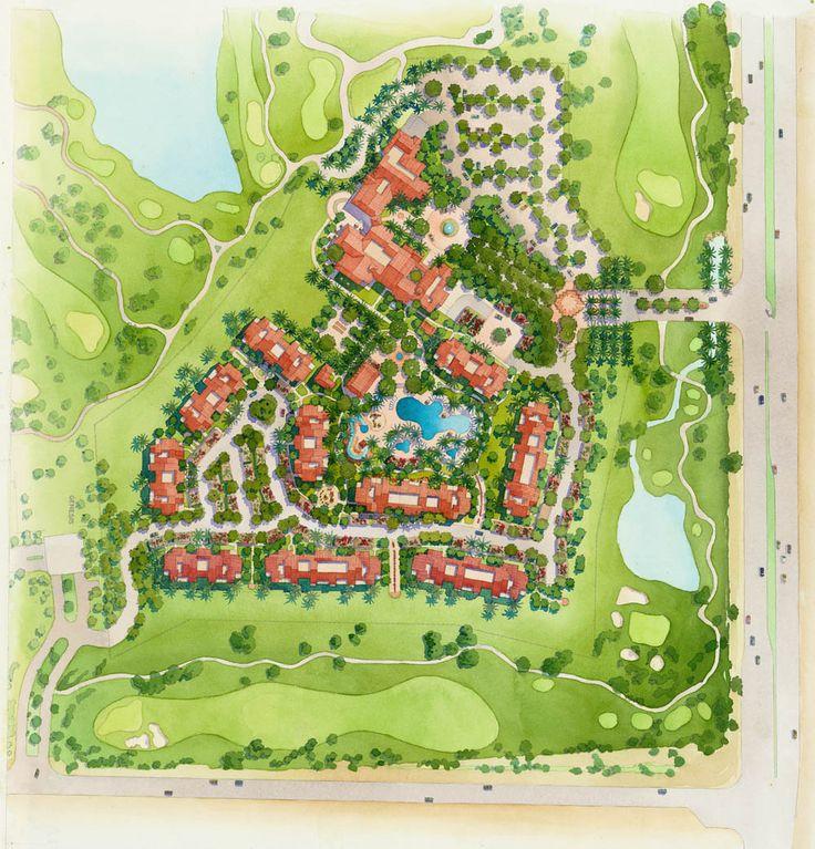32 - Watercolor Site Plan Rendering - Starwood Resorts