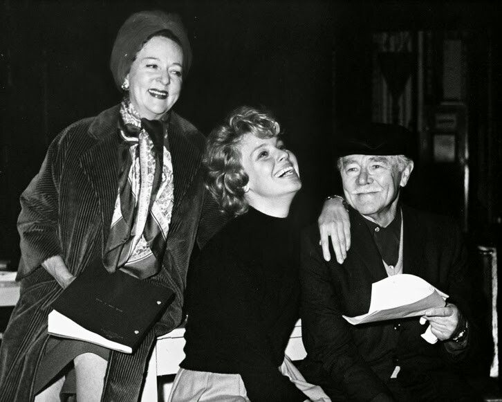 Jessie Royce Landis, Betsy Palmer and Charles Ruggles in rehearsal for ROAR LIKE A DOVE, 1964.