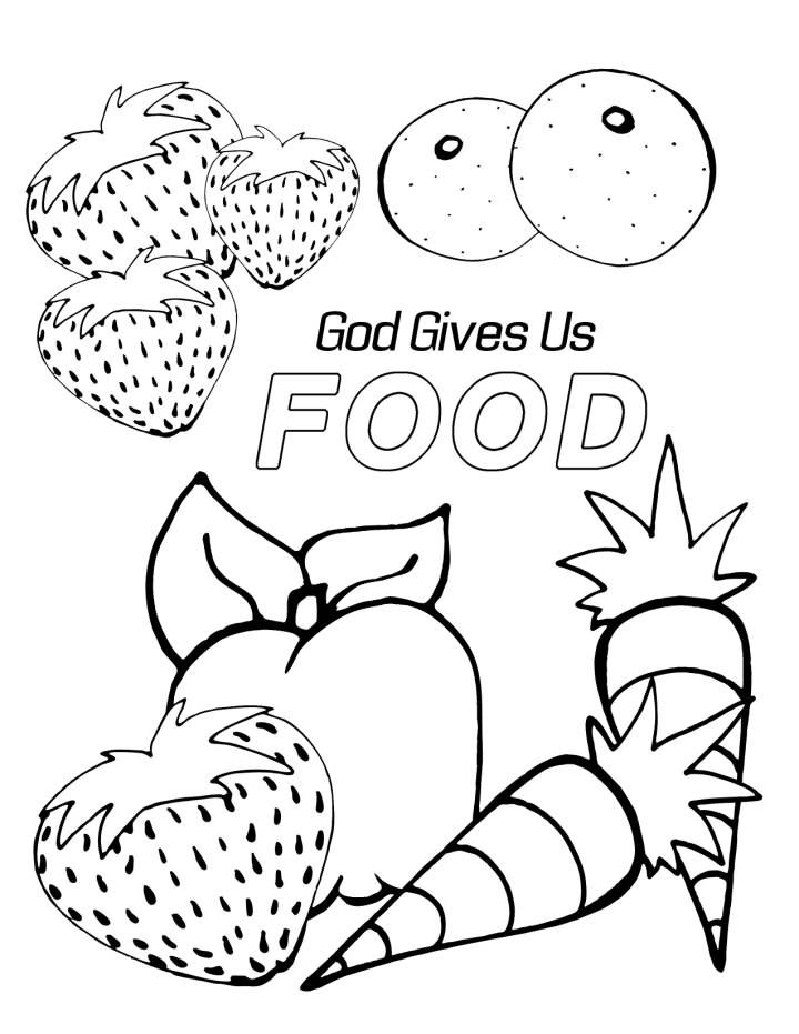 Image Result For Free Bible Coloring Page Of Sharing Food