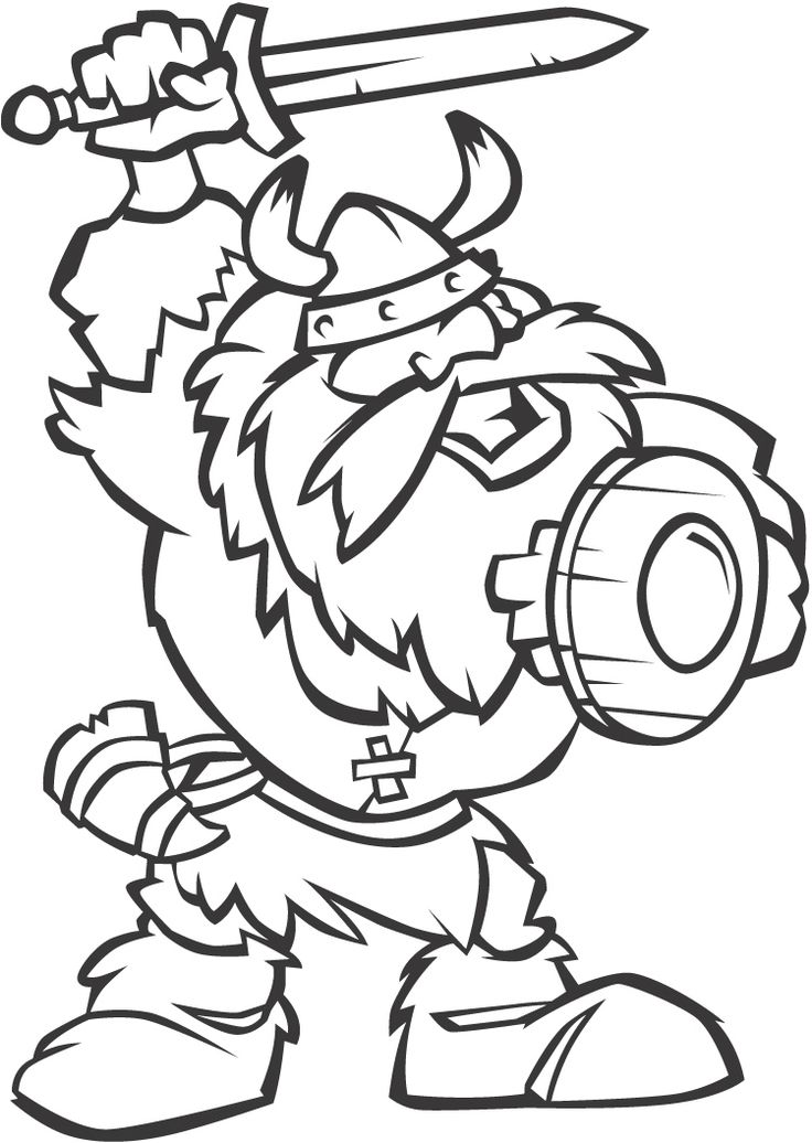 viking cartoon coloring page