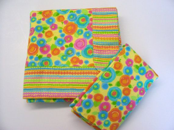 Double Flannel Baby Blanket with FREE Burp by threadsandthings1, $18.00