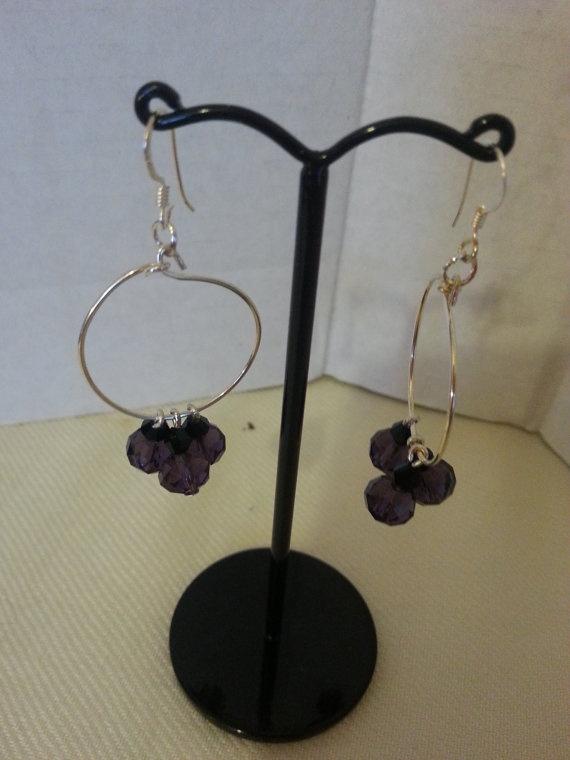 Swarovski Crystal Hoop Earrings by JewellerybyStarlight on Etsy, £8.25
