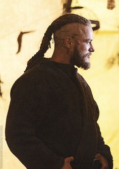 Vikings on History Channel - Ragnar character I don't know what it is but I actually like the head tattoos...