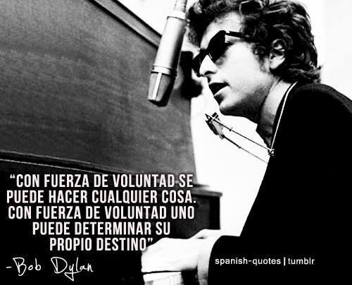 Palabras de Bob Dylan