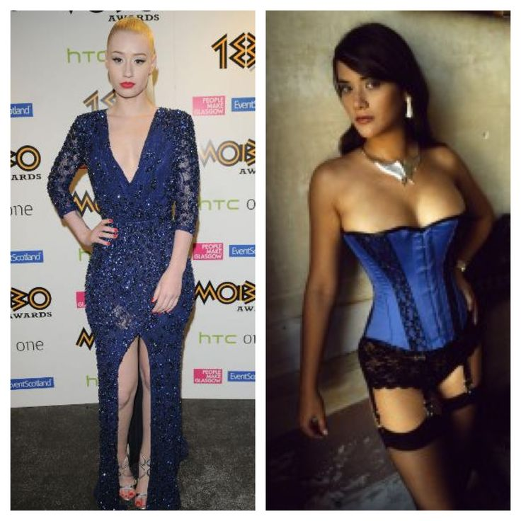 Get Iggy Azalea's look with the 'Illusion' Corset from Vollers.  http://www.vollers-corsets.com/inspire.html
