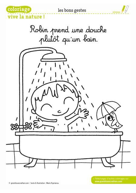 Robin prend une douche plutôt qu'un bain