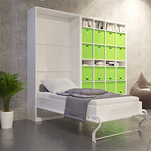 Klappbett-Schrankbett-Murphy-bed-Wandbett-Wall-bed-90x200-vertikal-Wei