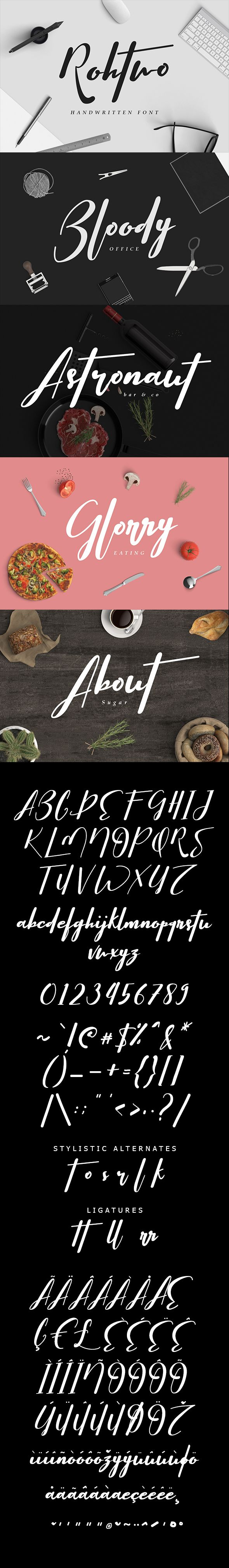 #Rohtwo Bold #Signature - Calligraphy #Script Download here: https://graphicriver.net/item/rohtwo-bold-signature/19751515?ref=alena994
