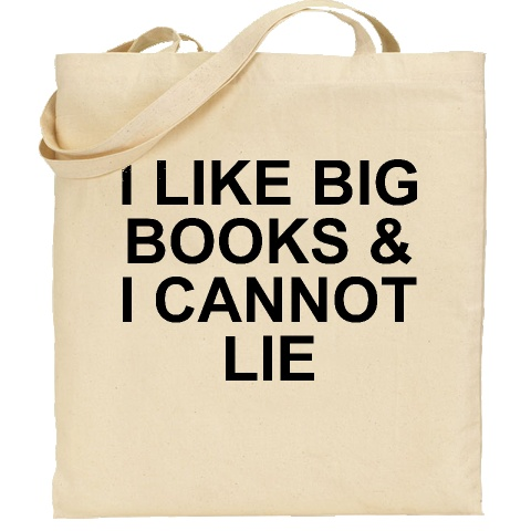 I LIKE BIG BOOKS AND I CANNOT LIE tote bag. As feature on the Today Show by Bobbie Thomas!
