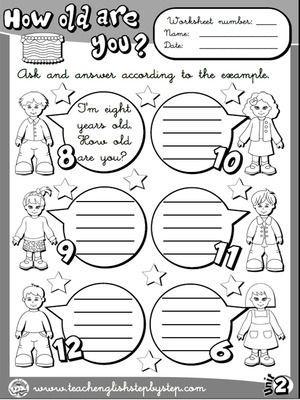 Age - Worksheet 2 (B&W version)