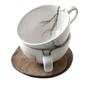 Tea Cup & saucer - Tree (Set of 2) - Handcrafted cup and saucer (made from sustainable wood). Available at sourced4you.com.au