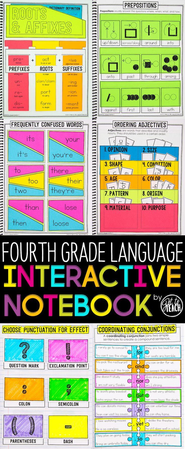 4th Grade Language Interactive Pocket book Grammar Interactive Pocket book
