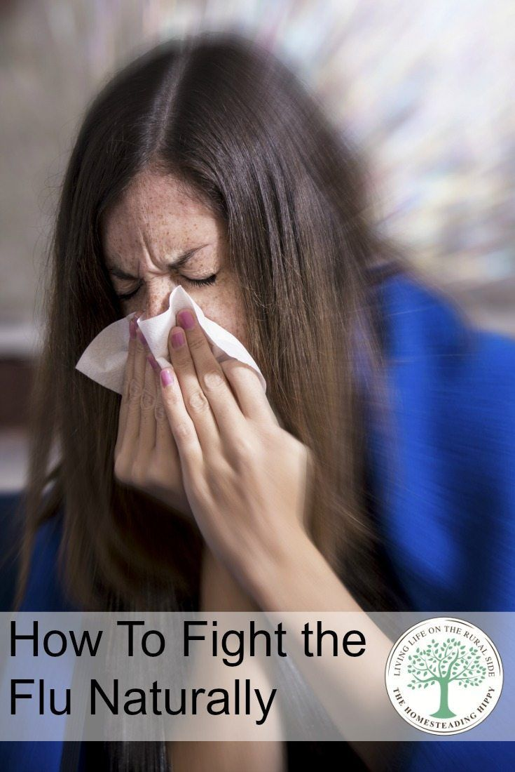 """While there is no """"cure all"""" for the flu, you CAN help your body recover! Learn some natural ways to fight and recover from flu symptoms! The HomesteadingHippy"""