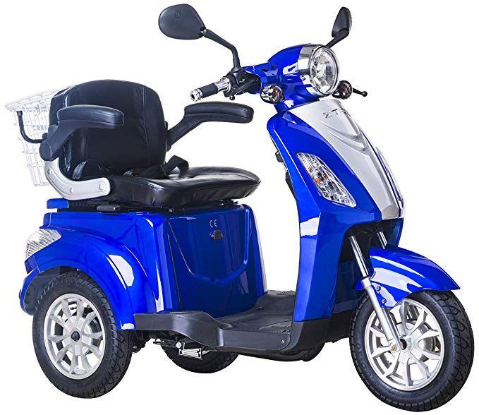 Elektromobil E Mobil Seniorenfahrzeug E Dreirad 25 Km H Blau Blau Dreirad Fahrzeuge Elektroroller