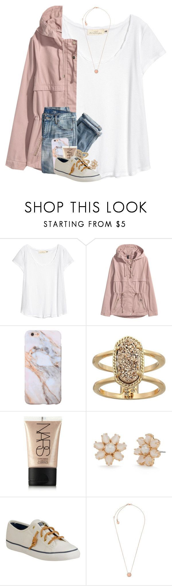 """i'm sick "" by madelinelurene ❤ liked on Polyvore featuring H&M, J.Crew, Kendra Scott, NARS Cosmetics, Kate Spade, Sperry and Michael Kors"