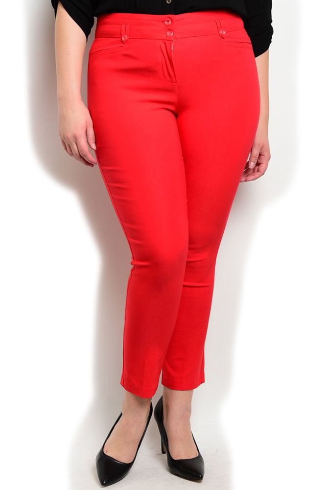 DHStyles Women's Red Plus Size Professional Fitted Mid Rise Double Button Closure Straight Legged Pants - 1X Plus #sexytops #clubclothes #sexydresses #fashionablesexydress #sexyshirts #sexyclothes #cocktaildresses #clubwear #cheapsexydresses #clubdresses #cheaptops #partytops #partydress #haltertops #cocktaildresses #partydresses #minidress #nightclubclothes #hotfashion #juniorsclothing #cocktaildress #glamclothing #sexytop #womensclothes #clubbingclothes #juniorsclothes #juniorclothes…