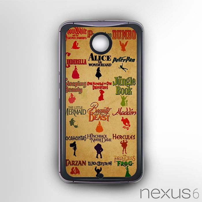 Disney Movie List for Nexus 6 phonecases