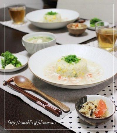 お裁縫。~蟹あんかけ炒飯&くずし豆腐と蟹のスープ~ by るぅさん ...
