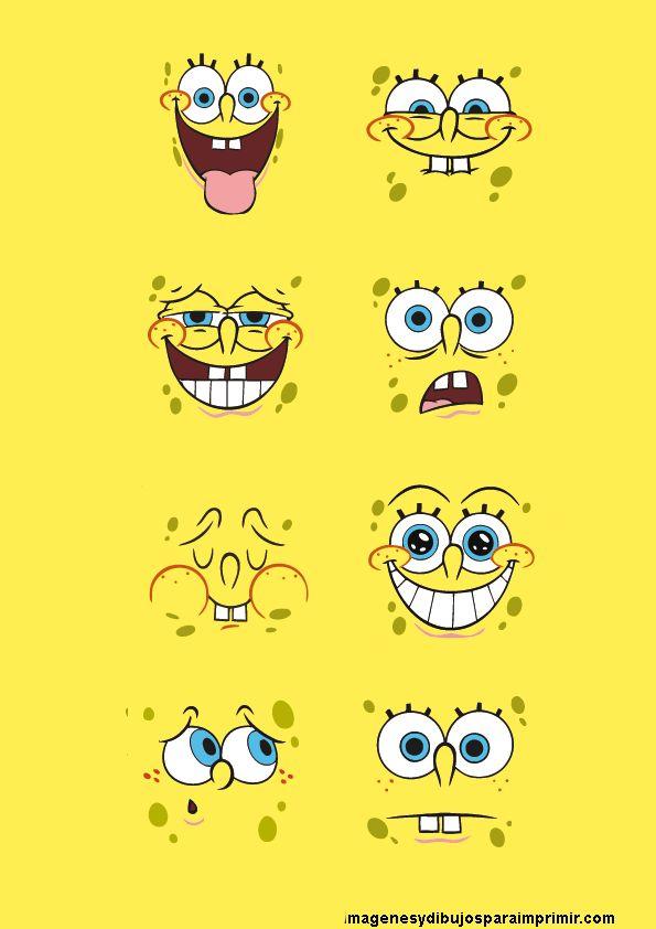 Caras De Bob Esponja Para Imprimir Imagenes Y Dibujos Para Imprimir Spongebob Wallpaper Spongebob Superhero Crafts