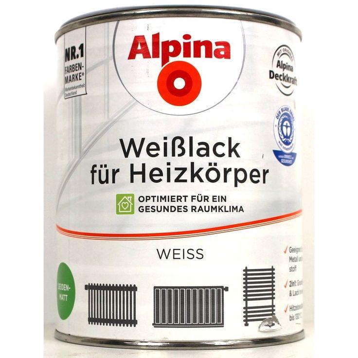 1L Alpina Weißlack für Heizkörper seidenmatt Acryllack Heizkörperlack Lack | Heimwerker, Farben, Tapeten & Zubehör, Farben & Lacke | eBay!