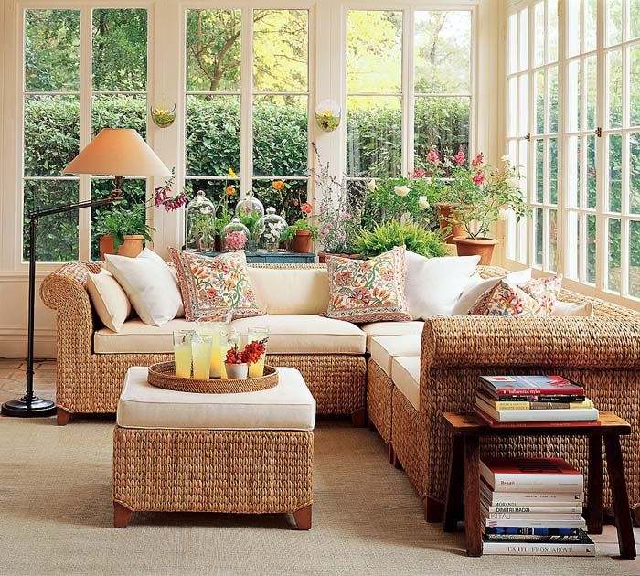 seagrass+sectional | Seagrass 5-Piece Sectional – Living Room Design Idea from Pottery ...