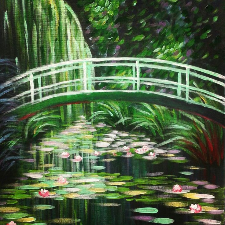 I painted a Monet!!! Still I can't believe it OMG!!! ❤