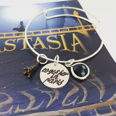 Together in paris bangle inspired by anastasia broadway musical