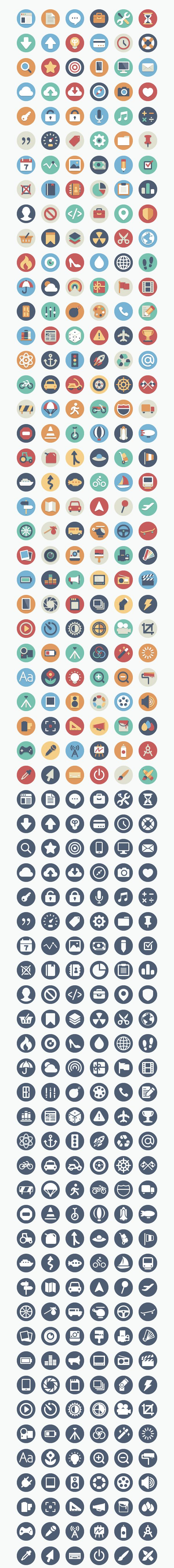 Collection of flat icons for your next data visualisation tasks.