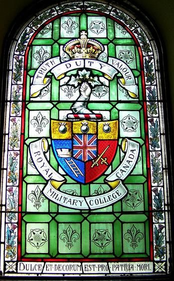 Royal Military College of Canada stained glass window St. Andrew's Presbyterian Church
