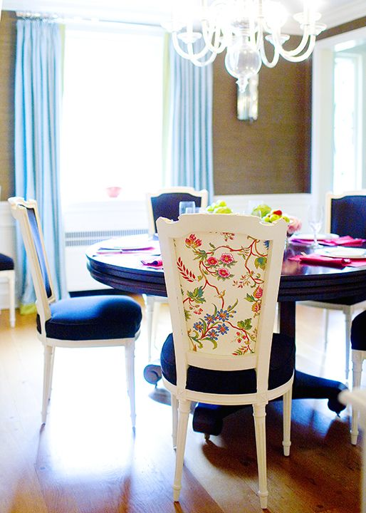 Best The Chinoiserie Dining Room Images On Pinterest - Blue dining room chairs