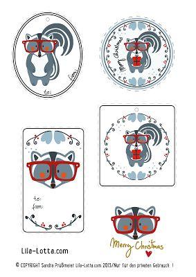 Lila Lotta Adventskalender Türchen Nr. 24 Freebie Geschenkanhänger ♥