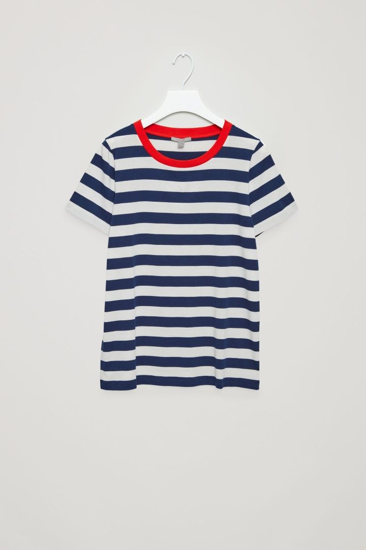 COS image 13 of Relaxed t-shirt in Navy Stripe