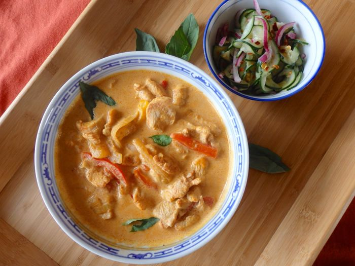 Thai red curry chicken ginger recipe