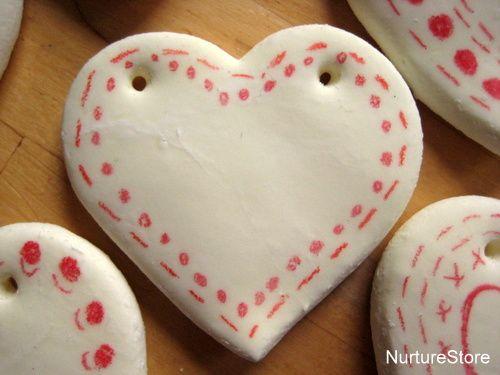 diy clay heart decorations