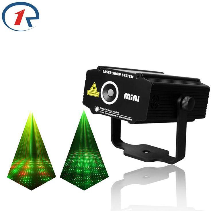 ZjRight Red Green Meteor Laser Light Sound control projection laser stage light gala party effect lights bar ktv dj disco light