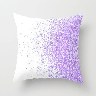 sweet and purple Throw Pillow by Marianna Tankelevich - $20.00