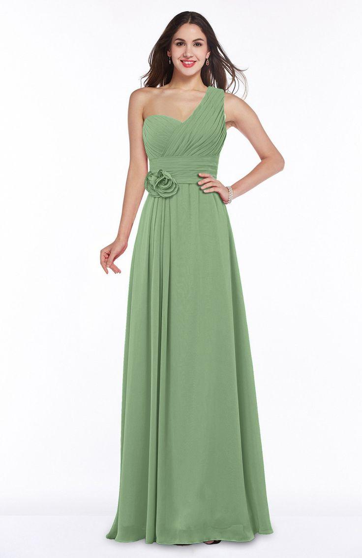 42 best abendkleider images on pinterest green dress formal sage green bridesmaid dress elegant asymmetric neckline zipper chiffon ruching plus size ombrellifo Choice Image