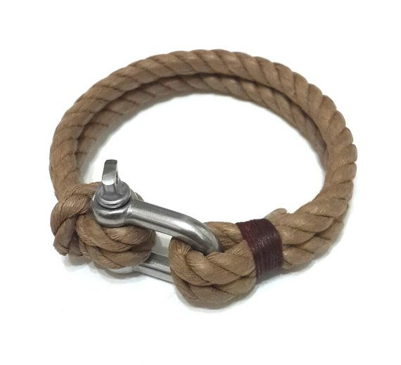 Nautische Edelstahl Segeln Armband Schäkel von braceletmixx