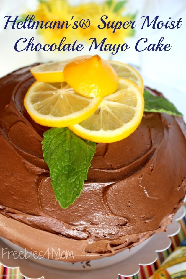 Get the Hellmann's\u00ae Super Moist Chocolate Mayo Cake recipe because it is the\u2026 Simple Cake for you  #cakerecipe  #confectionery