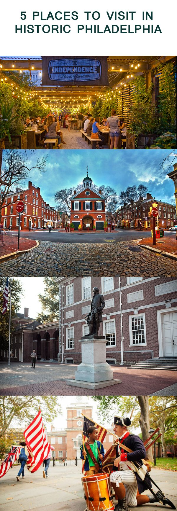 5 PLACES TO VISIT IN HISTORIC PHILADELPHIA BLOG 5 PLACES TO VISIT IN HISTORIC PHILADELPHIA Posted on March 10, 2017  The City of Brotherly Love offers tons to see and do and get this, it's FREE. That's right you heard it right it's FREE.  Embed from Getty Images  Start your day by visiting Independence Visitor Center.  The center has loads of City Tour information. Walk through the ............