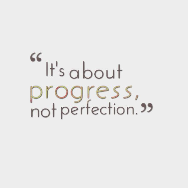"""it's about progress, not perfection."" #marketing #quotes #Kreatepop"