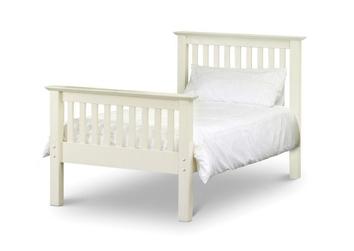 Julian Bowen Beds Barcelona 3ft Single Stone White Pine Bed Barcelona Stone White Single BedAs handsome as they come this solid pine bed has a classic shaker style to it with strong angular features and a beautifulstonewhitefinish. With a solid pine slatted ba http://www.comparestoreprices.co.uk/beds/julian-bowen-beds-barcelona-3ft-single-stone-white-pine-bed.asp